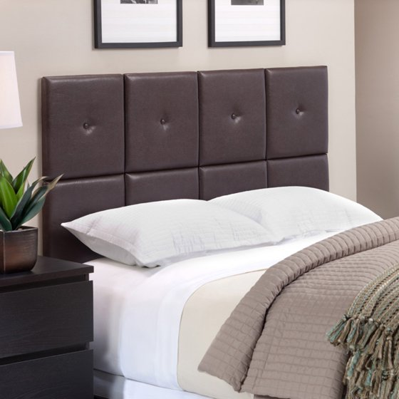 Foremost Tessa Espresso Pu Headboard Tiles With Tuft Full Queen