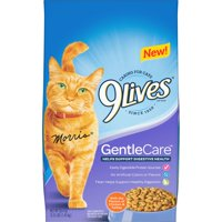 9Lives Gentle Care Dry Cat Food with Chicken and Turkey Flavors, 3.15lb Pound Bag