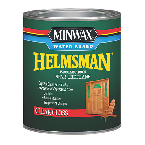 Minwax Water Based Helmsman Indoor/Outdoor Spar Urethane, Quart, Gloss