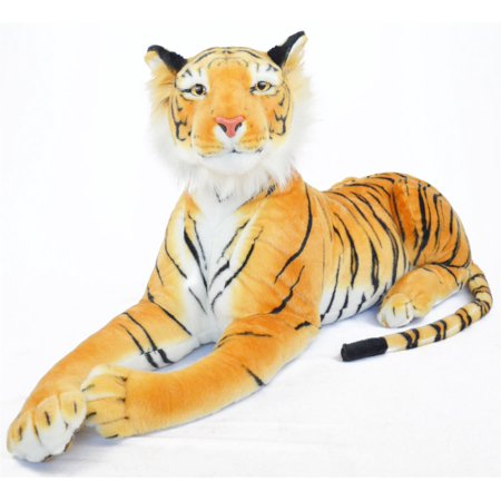 Rohit the Orange Bengal Tiger | 4 Foot Long (Tail Measurement not Included!) Big Stuffed Animal Plush Cat | Shipping from Texas  | By Tiger Tale Toys
