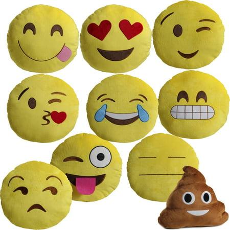 Large 13 Quot Soft Plush Emoji Throw Pillow