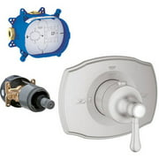 Grohe K19839-35026R-EN0 GrohFlex Thermostat Trim with Rough-in, Brushed Nickel
