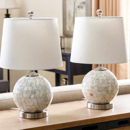 Abbyson Mini Mother Of Pearl Table Lamp Set Of 2