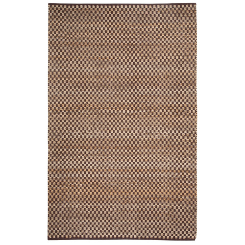Checkered Rectangle Natural Area Rug, 5' x 8'