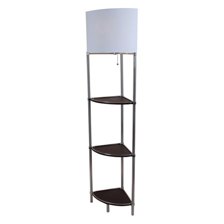 Normande lighting shelf floor lamp walmartcom for Normande rustic floor lamp