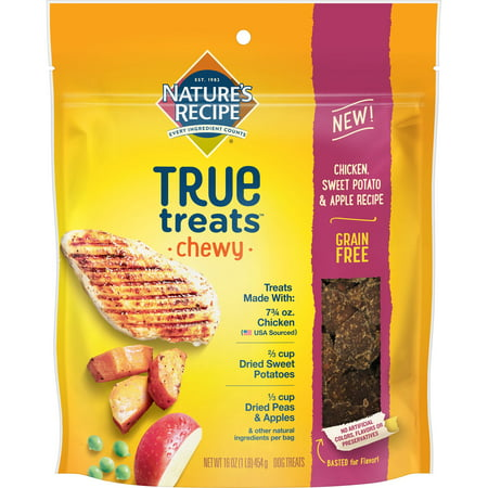 Nature's Recipe True Treats? Chicken, Sweet Potato, and Apple Chewy Dog Treats, 16 - Halloween Apple Treats