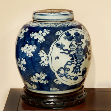 China Furniture and Arts Chinese Ginger Jar Vase, Blue and White (Chinese Blue White Porcelain)