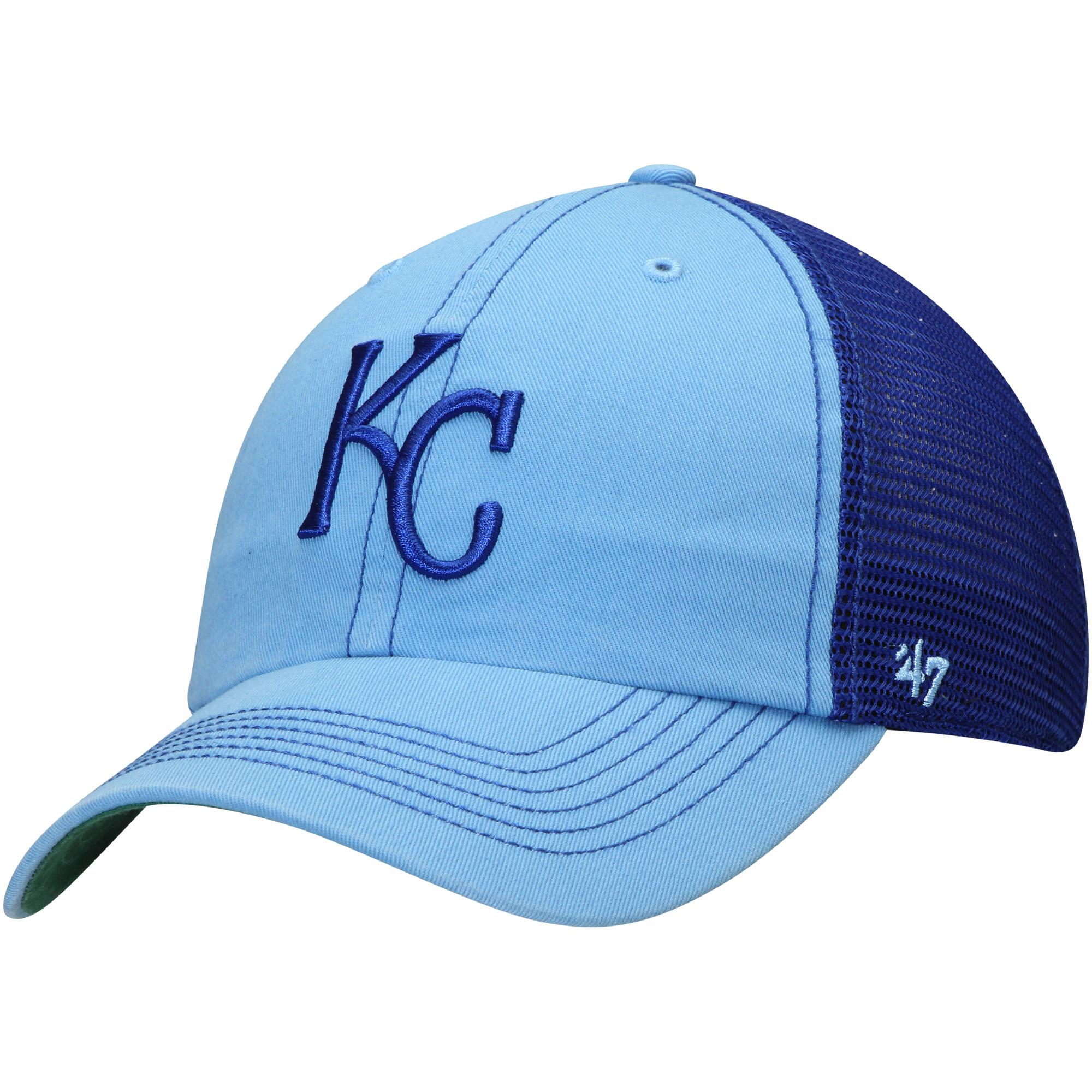 Kansas City Royals '47 Trawler Clean Up Trucker Hat - Light Blue - OSFA