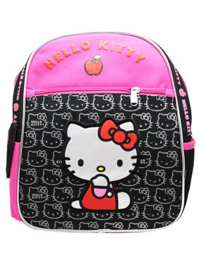 e926c4ce27 Product Image Sanrio s Hello Kitty Face Pattern Hot Pink Black Small Kids  Backpack (12in)