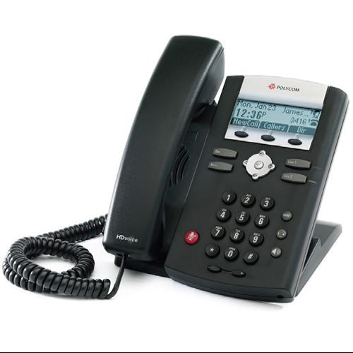 Refurbished Polycom 2200-12375-025 SoundPoint IP 335 2-Line IP Phone (POE)