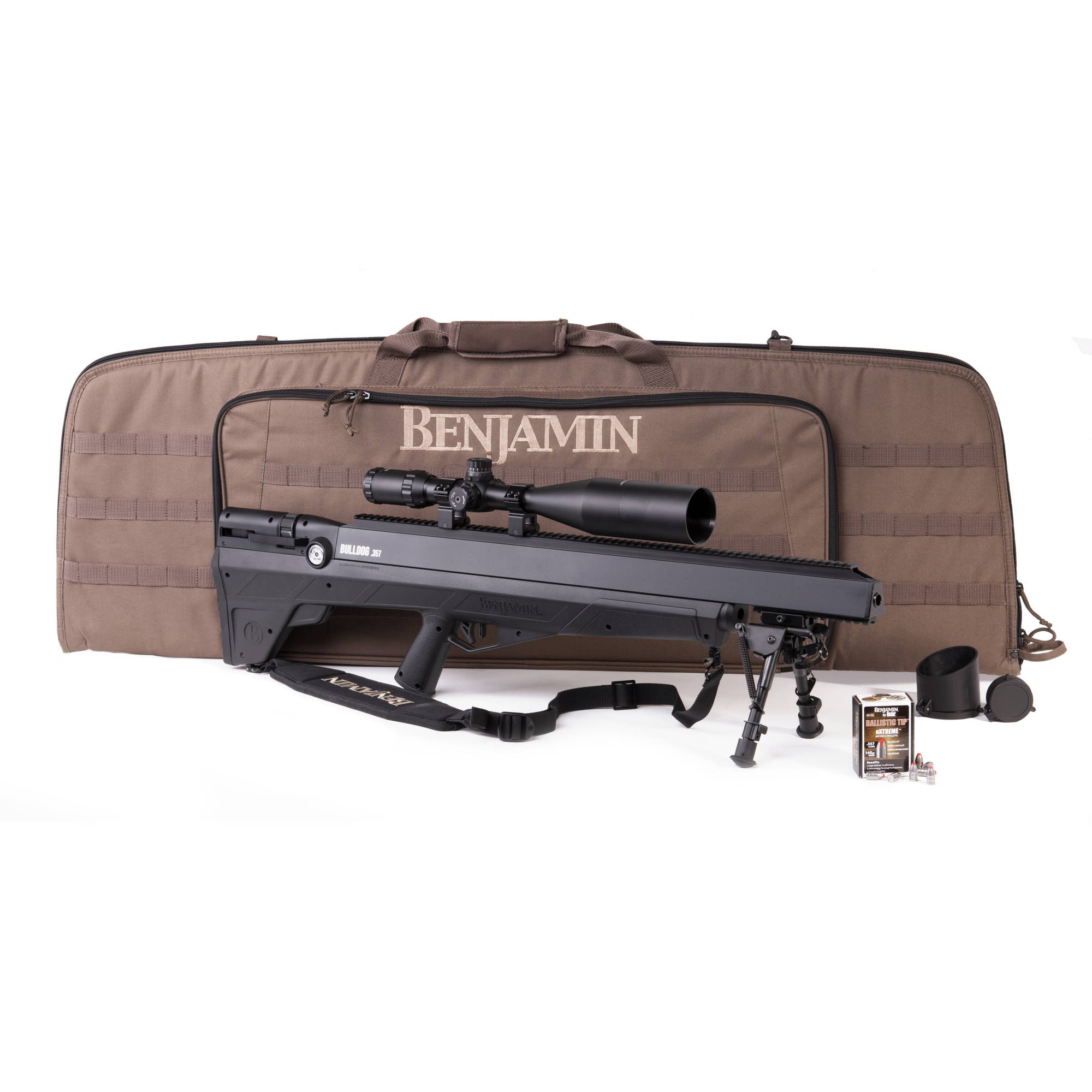 Benjamin Bulldog .357 Caliber PCP Air Rifle, Sportsman's Package by