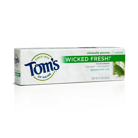 Tom's of Maine Wicked Fresh! Fluoride Toothpaste, Spearmint Ice, 4.7 Oz