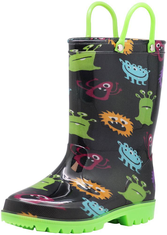 black rain boots girls