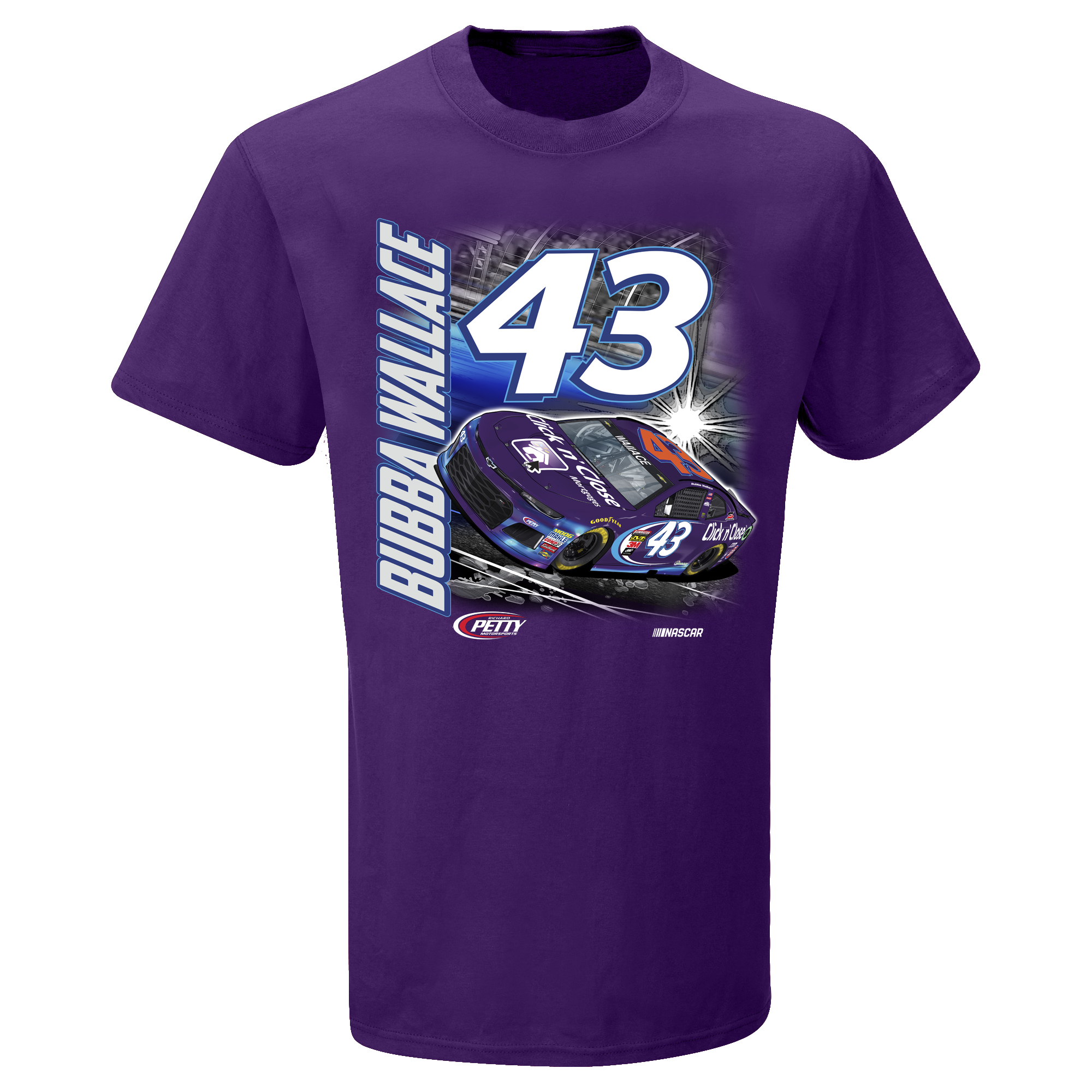 Darrell Wallace Jr. Youth Power T-Shirt - Purple