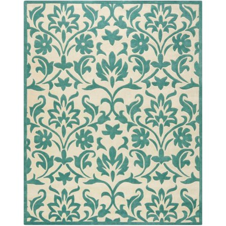 Safavieh Modern Arto Willow Hand Tufted Area Rug, Ivory/Light Blue