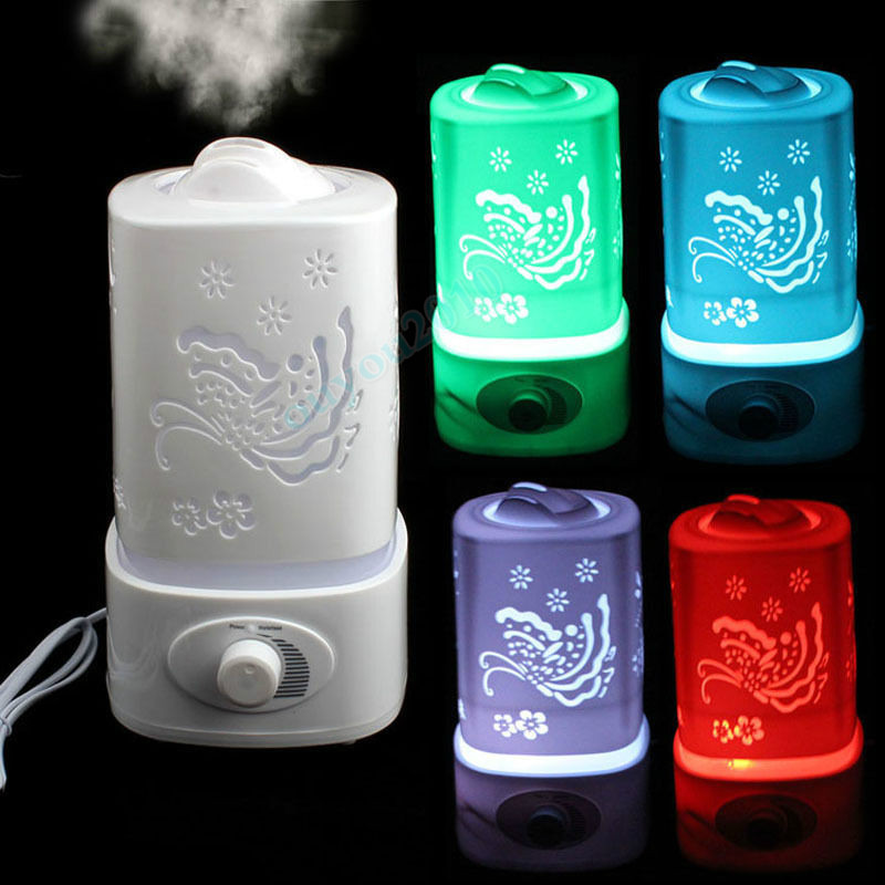 1.5L LED Ultrasonic Home Aroma Humidifier Air Diffuser Purifier Lonizer Atomizer with Color Changing