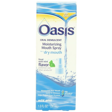 Oasis Moisturizing Mouth Spray for Dry Mouth Mild Mint Flavor, 1 Fl Oz (Dry Mouth Spray)
