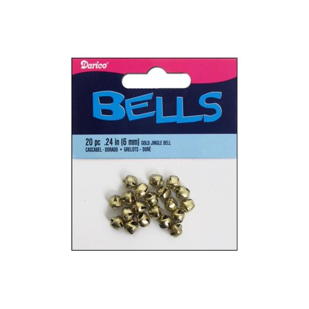 Darice Jingle Bells Gold 6mm 20pc