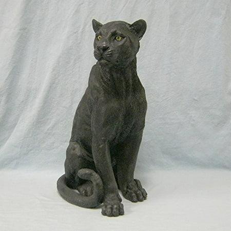 Ebony Black Panther Figurine Statue
