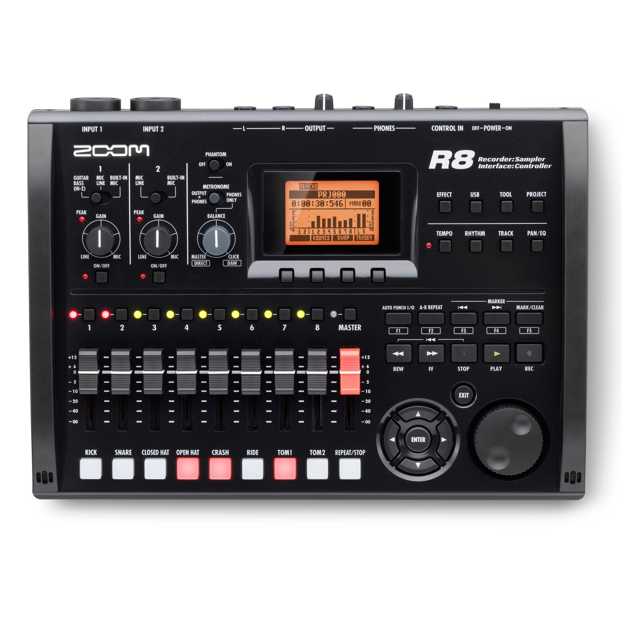 Zoom R8 Studio Digital Multitrack SD Recorder, DAW Controller, & 8 Pad Interface