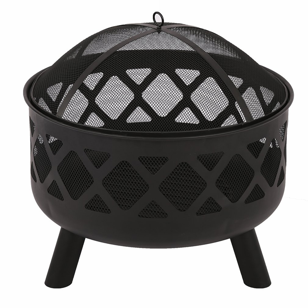 """25"""" Fire Pit Portable Outdoor Firepit Wood Fireplace Heater Patio Deck Yard"""
