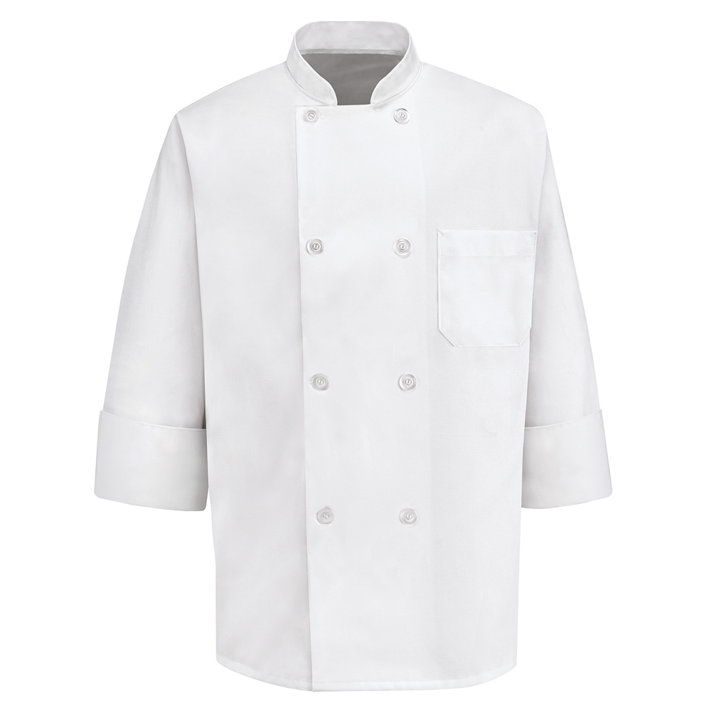 Chef Designs Eight Pearl-Button Chef Coat by