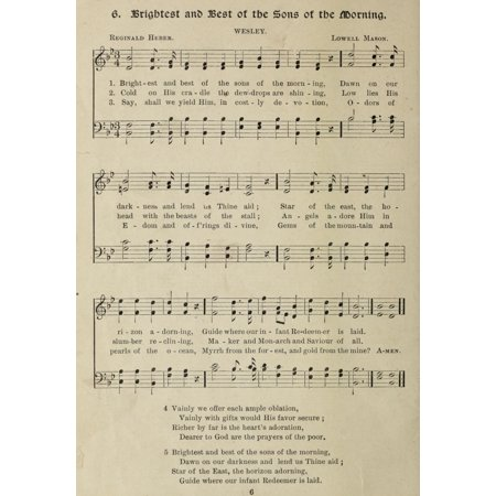 Brightest   Best Of The Sons Of The Morning Gems Of Christmas Songs 1910 Poster Print