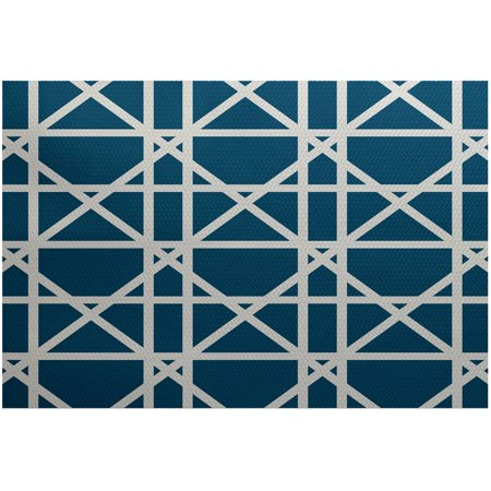 Simply daisy 2 39 x 3 39 trellis geometric print indoor rug for Geometric print area rugs