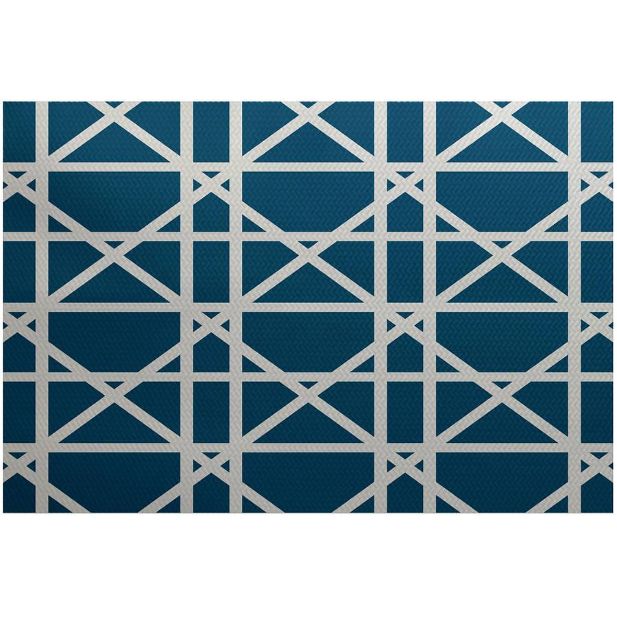 Simply Daisy 2' x 3' Trellis Geometric Print Indoor Rug