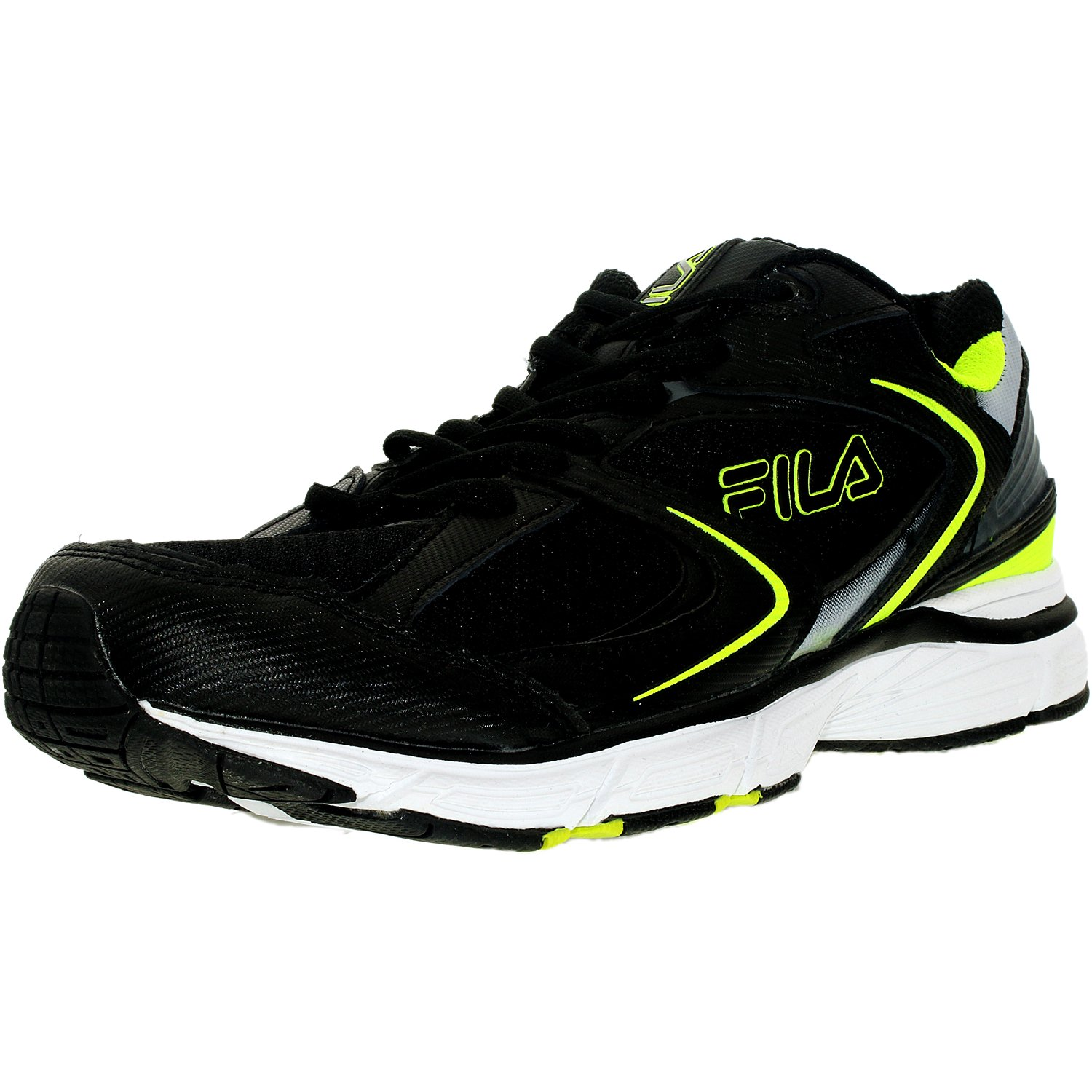 Fila Men's Simulate 3 Black Neon Green White Ankle-High Running Shoe 10.5M by Fila