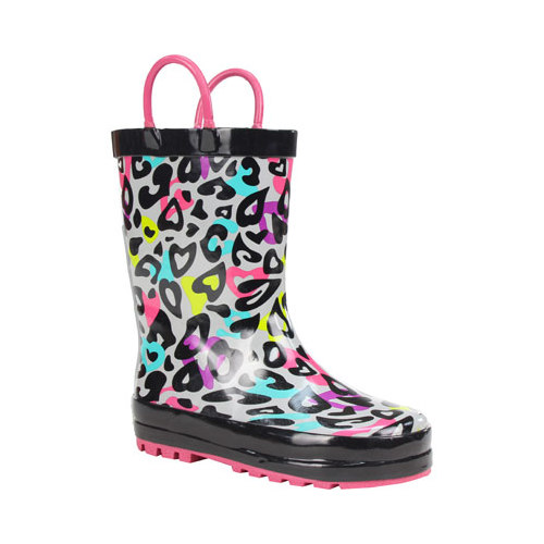 Girls' Western Chief Groovy Leopard Rain Boot