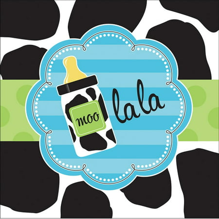 Baby Boy Cow Print Lunch Napkins for $<!---->