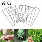 20 X Synthetic Artificial Grass Turf Pins Fake Lawn Garden Mat Fixed U Pegs
