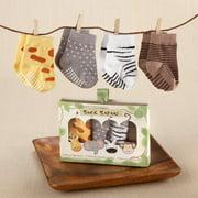 Sock Safari 4 Pair Animal Themed Sock Set