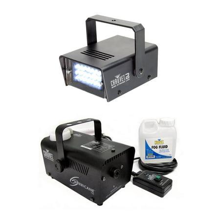 NEW CHAUVET CH-730 LED Mini Strobe Light + Hurricane 700 H-700 Fog Smoke Machine](Mini Fog Machine)