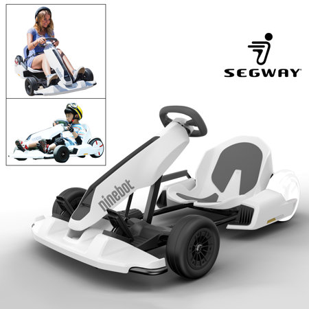 Ninebot GoKart Kit Fitting for Segway miniPRO Transporter (  Self Balancing Scooter Excluded ), Big Racing Ride on Car Toy  for Kids and Adults White - Big Toy Car