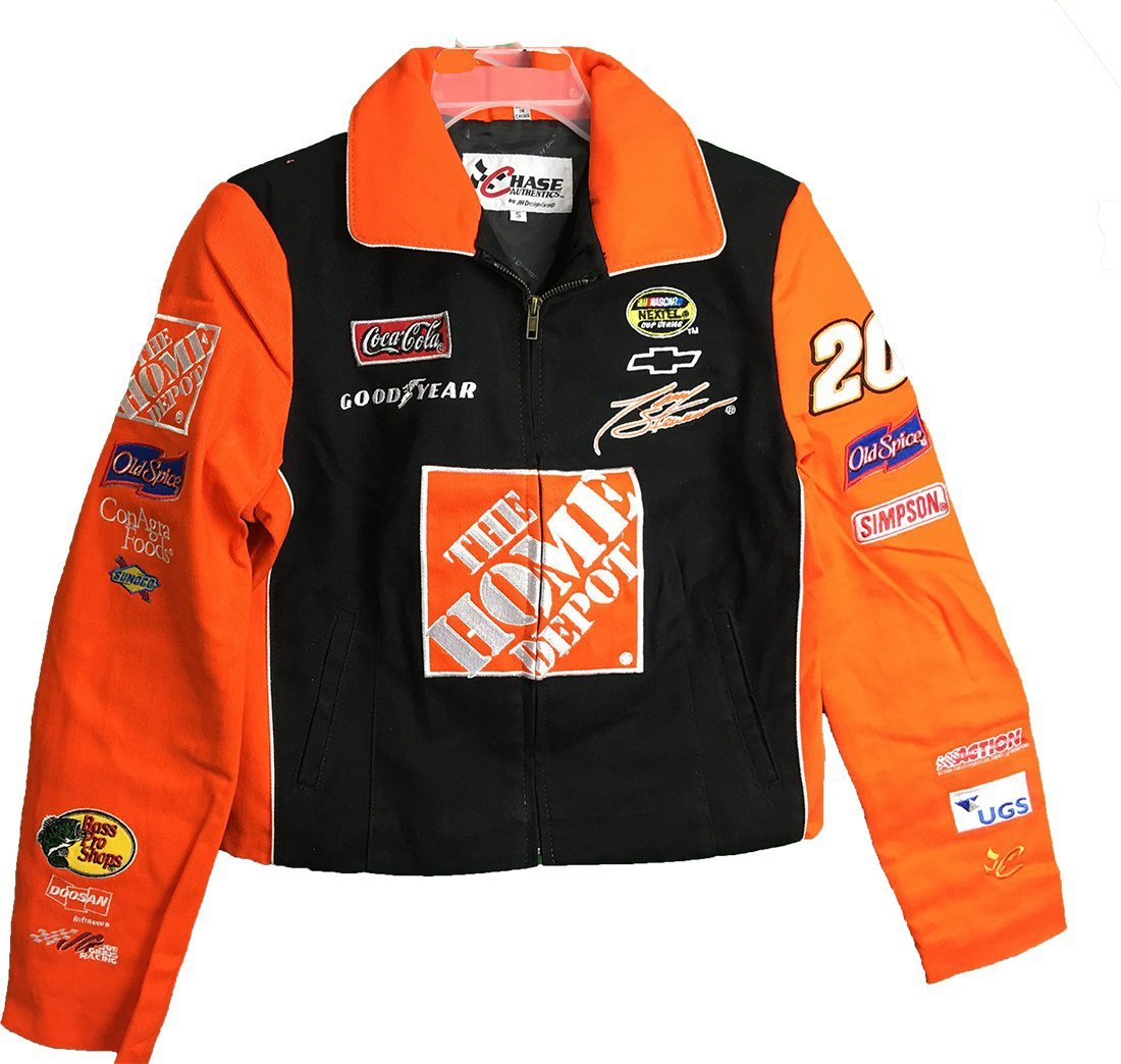 Nascar Tony Stewart #20 Home Depot Full Zip Adult Ladies Women's Jacket (XX-Large) by JH Design