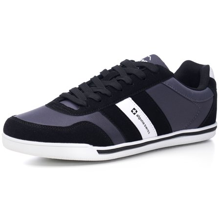 alpine swiss haris mens retro striped athletic shoes fashion sneaker tennis shoe (Leopard Sneakers Men)