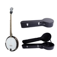 Glarry 5-String 24 Bracket Geared Tunable Banjo High Quality with Banjos Case
