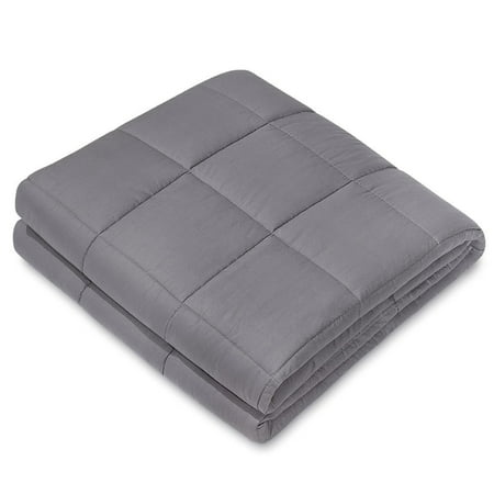 "NEX Charcoal Weighted Blanket (60"" x 80"",15 lbs) 100% Cotton Luxury Gravity Blanket"