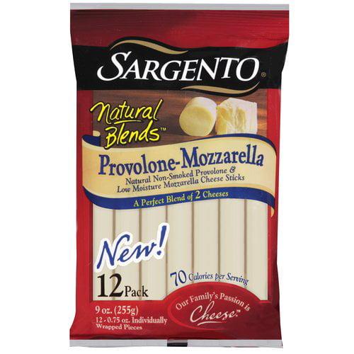 Sargento Natural Blends Provolone-Mozzarella Cheese Sticks, 0.75 oz, 12ct