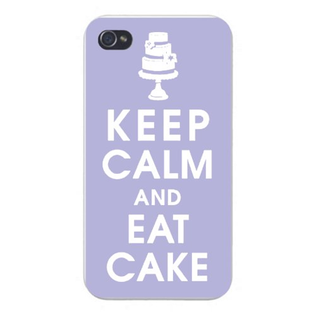 Apple Iphone Custom Case 5 5s AND SE Snap on - Keep Calm and Eat Cake w/ Triple Stack