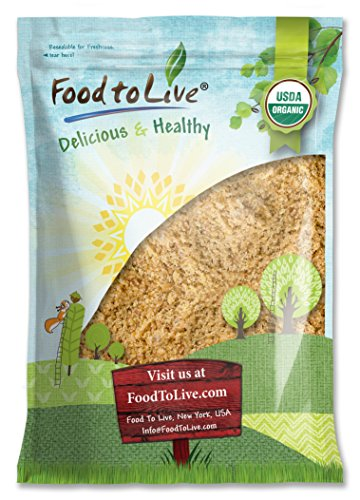 Food To Live Organic Ground Golden Flaxseed (Cold-Milled, Raw Flax Seeds Powder   Meal   Flour, Non-GMO, Bulk) (8 Pounds) by