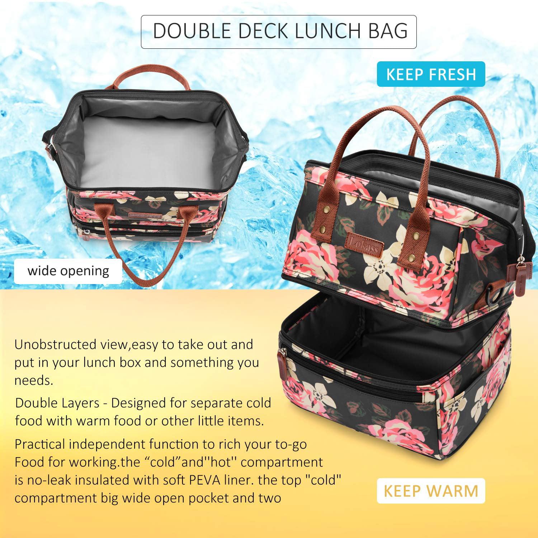 f1621ecf995f LOKASS Double Insulated Lunch Bag Waterproof Thermal Cooler Box Women Men  Kid Adults