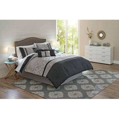 Better homes and gardens 7 piece art deco comforter set 7 better homes and gardens