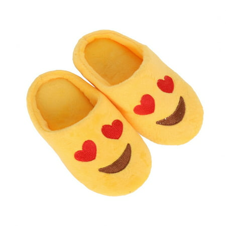 BOBORA Baby Girls Boys Expression Package Cotton Slippers Smiling Face Section Cool Style Winter - Girls Glass Slippers