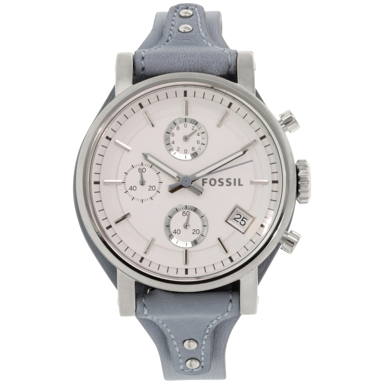 Fossil Women's Boyfriend ES3820 Grey Leather Quartz Watch