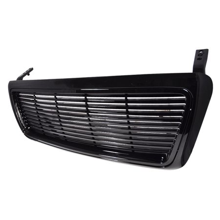 Spec-D Tuning For 2004-2008 Ford F150 1Pc Black Billet Front Grille Grill 2004 2005 2006 2007 2008