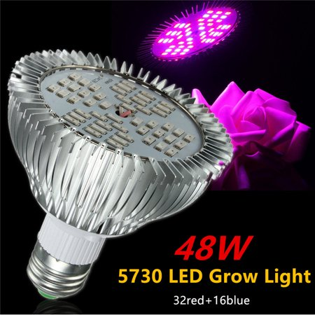 E27 48w Led Hydroponic Plant Grow Light Bulb Full Spectrum