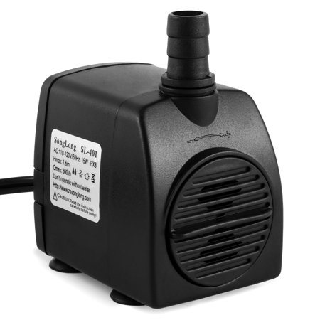 Small Submersible Water Pump (Magicfly 210 GPH Submersible Pump 15W Fountain Water Pump Aquarium Fish Tank Powerhead, 5.9ft Power Cord )